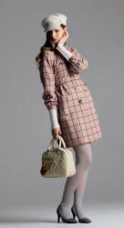 New Look pink windowpane check coat - 2006 Fashion History